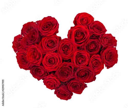 Staande foto Roses Red rose flowers isolated on white background