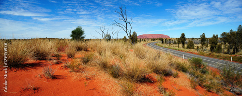 Australia Landscape : Uluru Road to Red rock of Alice Spring, Yulara, Mutitjulu