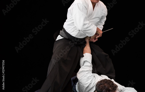 aikido master disarms his opponent Poster