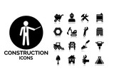 Construction and tools icons set 3.
