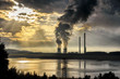 Air pollution and contamination created by coal power plant