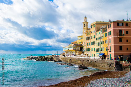 Foto op Canvas Mediterraans Europa Boccadasse, a district of Genoa in Italy