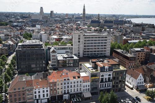 Fotobehang Antwerpen Ausblick auf Antwerpen