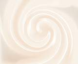 Vector Vanilla Swirl Cream Texture Background - 129513176