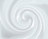 Vector Swirl Cream Texture Background - 129513186