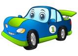 Cartoon sport blue car