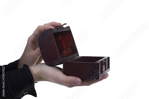 Poster Antique casket in the hands