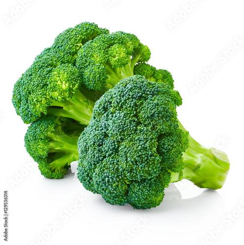 Broccoli isolated on white background - 129536314