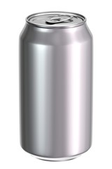 Blank aluminium beer or soft drink can 3D illustration