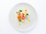 Molecular modern cuisine red fish - 129548509