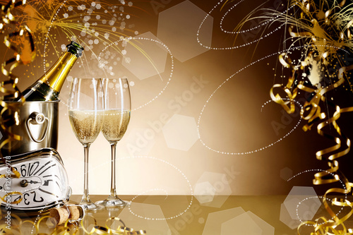 Luxury New Years Eve celebration background