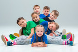 The kids dance school, ballet, hiphop, street, funky and modern dancers - 129564799