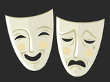 theater sad and happy masks