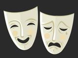 theater sad and happy masks