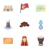 Turkey set icons in cartoon style. Big collection of Turkey vector symbol stock illustration