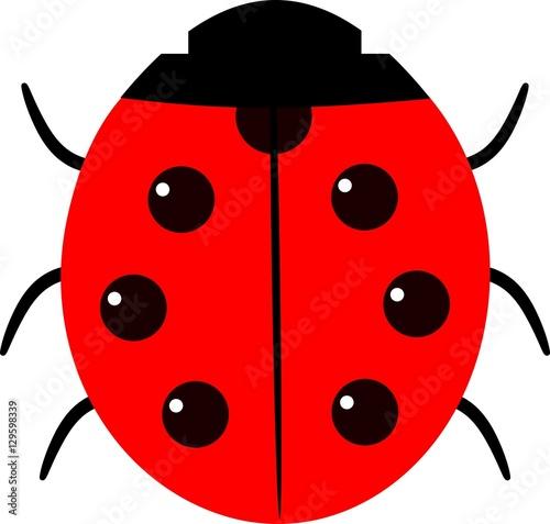 Nice red cartoon ladybug