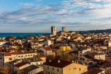 Vue from above on the City of Antibes, Côte d'Azur, France