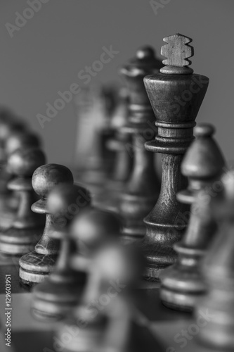 Plakat Close-up of Chess Game Pieces