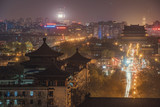 Beijing, China - April 3, 2016: Night view from a hill over Beijing city center.