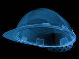 x ray safety helmet isolated on black
