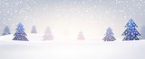 Fototapety New Year banner with Christmas trees.