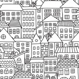 Vector seamless pattern with  houses - 129662178