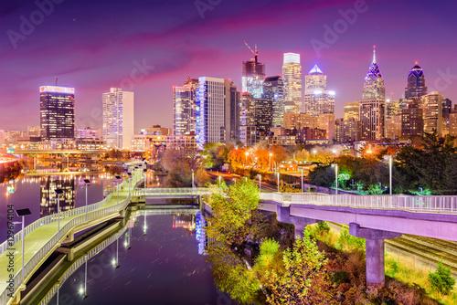 Papiers peints Prune Philadelphia Pennsylvania Skyline
