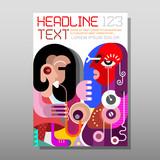 Woman Playing Saxophone - magazine template