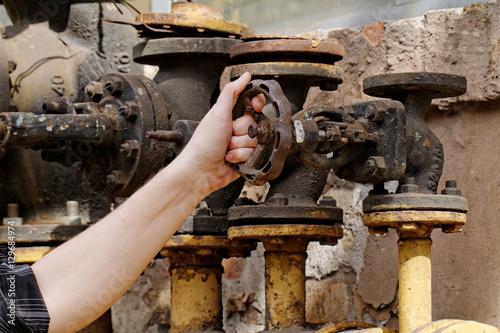 In de dag Rusted valve