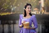 portrait of smiling beautiful Asian woman