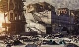 ruins of a city. 3D concept - 129693308