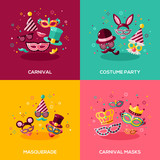 Fototapety Flat design concepts of carnival