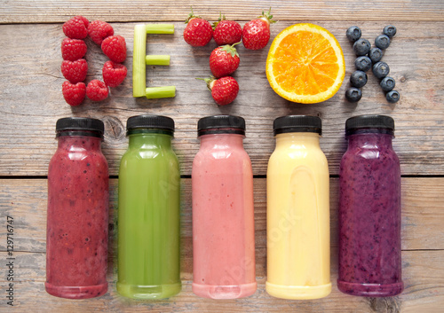 Deurstickers Sap Detox smoothies