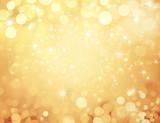 Fond doré et festif - Noël, nouvel an, anniversaire - 129718198