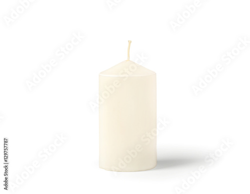 Poster Candle isolated on white background