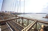 Beautiful view from Brooklyn Bridge, NYC