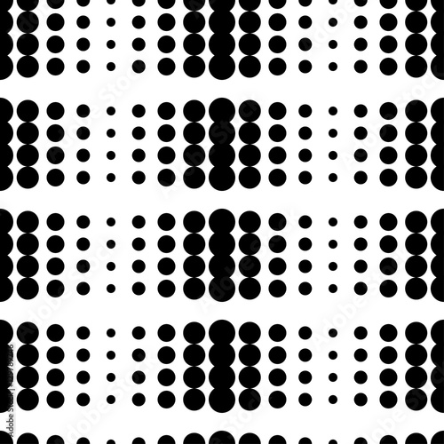 Seamless vector background with abstract geometric pattern. Polka dot. Print. Repeating background. Cloth design, wallpaper.