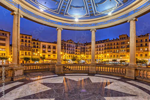 View from bandstand on Plaza del Castillo in Pamplona