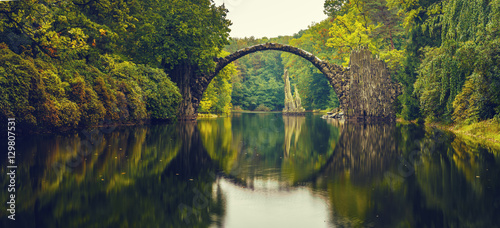 Fotobehang Bruggen Rakotz bridge in Kromlau