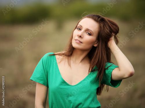 Portret kobiety w zielonej bluzce