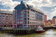 Modern Buildings at Burroughs Wharf at Charles River in Boston