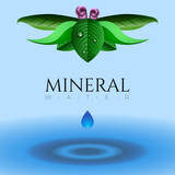 Mineral water illustration