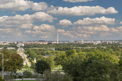 The view of Washington DC from Arlington Cemetery Poster