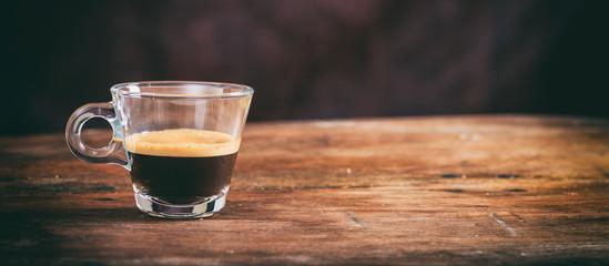 Transparent cup of espresso © Rawf8