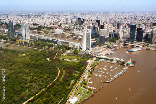 Foto op Plexiglas Buenos Aires The Puerto Madero neighborhood of Buenos Aires view from aerial
