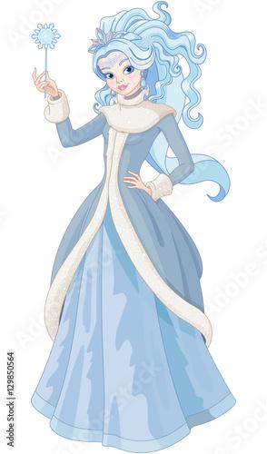 Foto op Aluminium Meisjeskamer The Snow Queen