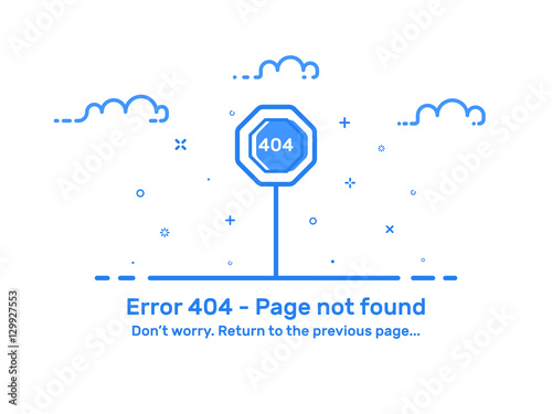vector illustration of background template web page concept error