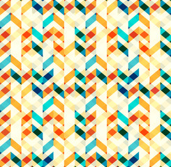 Multicolor chevron style seamless pattern. Arrows texture. Geometric Vector illustration.