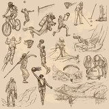 Sport mix - An hand drawn vector collection - 129958920