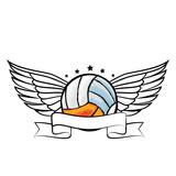 volleyball sport emblem icon vector illustration design